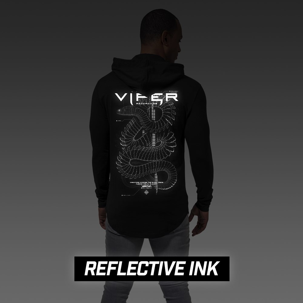 Brand New: Limited Edition 'Reflective Optical Snake' Hoodie